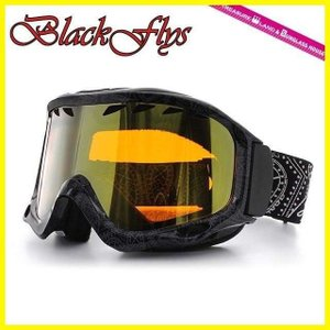ブラック フライ ゴーグル BLACKFLYS カオス CHAOS BF10-5102-PB74 Paisley Black/L.Orange Gold Mirror スキー スノーボード GOGGLE|treasureland