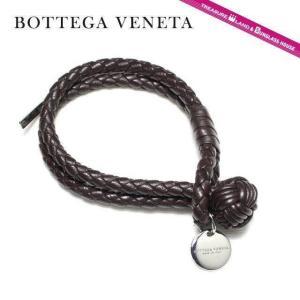 ボッテガ ヴェネタ ブレスレット BOTTEGA VENETA 113546 V001D 2040 ブラウン S サイズ メンズ 男性 レディース 女性|treasureland