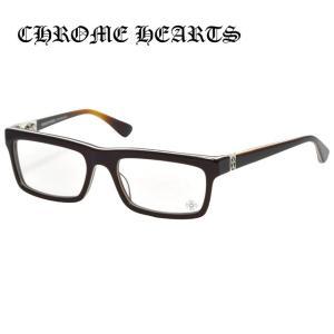 クロムハーツ 伊達 メガネ 眼鏡 クロス メガネ PENETRANUS BRBBR Brown Bone Brown セル スクエア ウェリントン シルバー メンズ レディース treasureland