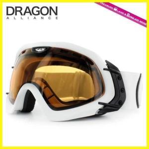 ドラゴン ゴーグル DRAGON 722-2931 MACE Powder/Amber マット ホワイト ラージフィット LARGE FIT FRAME GOGGLE メイス ヘルメット対応|treasureland
