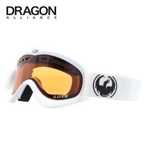 ドラゴン ゴーグル DRAGON 722-3573 DXS Powder/Amber スモールフィット SMALL FIT FRAME GOGGLE ヘルメット対応 キッズ 子供向け|treasureland