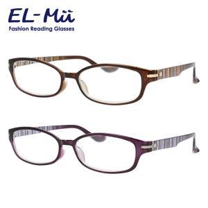 エルミー リーディンググラス 老眼鏡 EL-Mii EMR 302U 全2カラー 53 度数+1.00〜+3.50 オーバル treasureland