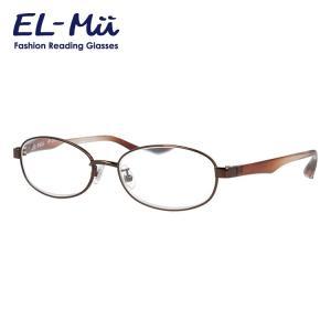エルミー リーディンググラス 老眼鏡 EL-Mii EMR303L-1(BR) 53 度数+1.00〜+3.50 オーバル treasureland
