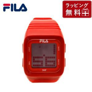 フィラ 腕 時計 防水 FILA FCD001-102 レッド デジタルウォッチ クォーツ 360゜センサー付き メンズ レディース 国内正規品|treasureland