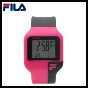 フィラ 腕 時計 防水 FILA FAT003DG-7 ピンク ブラック クォーツ クロノグラフ メンズ レディース 国内正規品|treasureland