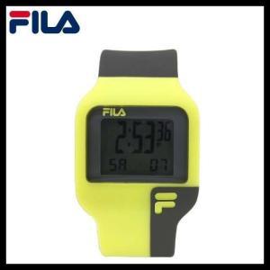 フィラ 腕 時計 防水 FILA FAT003DG-8 イエロー ブラック 黒 クォーツ クロノグラフ メンズ レディース 国内正規品|treasureland