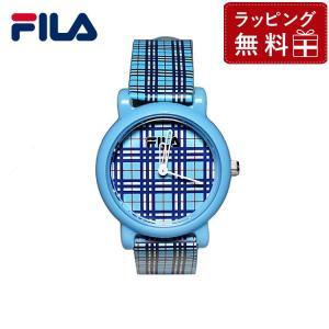 フィラ 腕 時計 防水 FILA FCK001-8 ブルー/チェック柄 キッズ レディース 国内正規品|treasureland