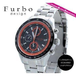 フルボデザイン 腕時計 防水 Furbo Design ウォッチ Furbo IL SOLE FS402SBKOR ブラック オレンジ ソーラークロノグラフ アラーム機能付き メンズ|treasureland