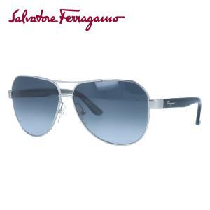 サルヴァトーレ フェラガモ サングラス Salvatore Ferragamo SF138SA-029 59 マット シルバー ブラック 黒 紫外線 UV カット treasureland