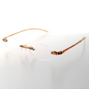 老眼鏡 シニアグラス リーディンググラス TP-10 BR クリアブラウン 超弾性 軽量老眼鏡 メンズ 男性 レディース 女性 treasureland