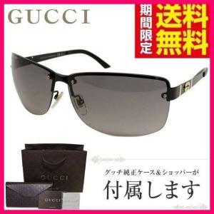 グッチ サングラス GUCCI GG4235FS UWX/EU シャイニー ブラック 黒 ゴールド ダーク グレー グラデーション メンズ レディース 紫外線 UV カット|treasureland