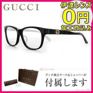 グッチ メガネ 伊達 眼鏡 フレーム GUCCI GG9089J MD6/14 55 ブラック ウェリントン メンズ レディース 国内正規品