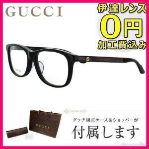 グッチ メガネ 伊達 眼鏡 フレーム GUCCI GG3736J 807 55 ブラック 黒 ウェリントン メンズ レディース|treasureland