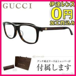 グッチ メガネ 伊達 眼鏡 フレーム GUCCI GG3736J TVD 55 ハバナ ウェリントン メンズ レディース 国内正規品