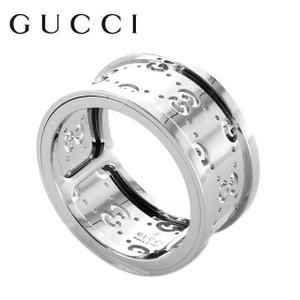 gucci グッチ リング 指輪 201985 J8500 9000 ホワイト ゴールド GGアイコン トワール ジュエリー アクセサリー|treasureland