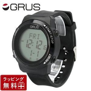 グルス 腕時計 アウトレット GURS GRS001-02BK/BK メンズ 男性 レディース 女性 歩幅がはかれる ウォ−キングウォッチ treasureland