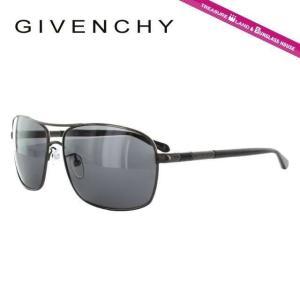 ジバンシー GIVENCHY サングラス SGV411M 0568 ブラック 黒 ガンメタル グレー メンズ 紫外線 UV カット treasureland
