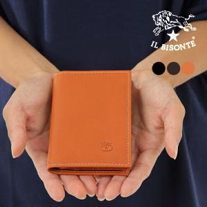 イルビゾンテ カードケース 名刺入れ IL BISONTE C0980 P 全3カラー 牛革 メンズ 男性 レディース 女性|treasureland