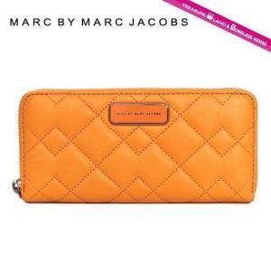 マーク バイ マークジェイコブズ 長 財布 ブランド MARC BY MARC JACOBS M0006118 オレンジ系 Crosby Quilted Slim Zip Around Color 817 treasureland