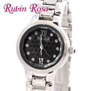 ルビンローザ 腕 時計 防水 Rubin Rosa ウォッチ R013-SOLSBK ブラック 黒 シルバー ソーラーシリーズ 電池交換不要 レディース|treasureland