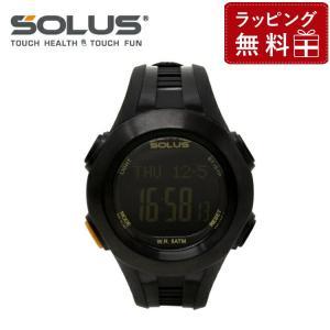 ソーラス 腕時計 防水 SOLUS 01-101-01 ブラック 黒 メンズ レディース スポーツ ダイエット エクサ サイズ 国内正規品 treasureland