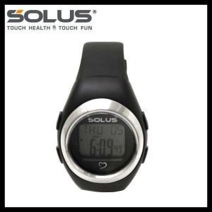 ソーラス 腕時計 防水 SOLUS 01-800-201 ブラック 黒 無地 メンズ レディース スポーツ ダイエット エクサ サイズ 国内正規品 treasureland