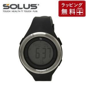 ソーラス 腕時計 防水 SOLUS 01-910-001 ブラック 黒 メンズ レディース スポーツ ダイエット エクサ サイズ 国内正規品 treasureland