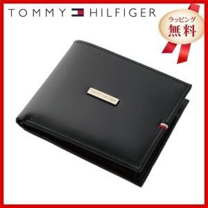 訳あり アウトレット トミーヒルフィガー 財布 TOMMY HILFIGER メンズ 男性 二つ折り 折り財布 本革 小銭入れ ブラック 黒 31TL25X012-001 0096-5169 01|treasureland