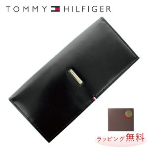 トミーヒルフィガー 長 財布 TOMMY HILFIGER 財布 31TL19X012-001 0092-5167/01 小銭入れ付 ブラック 黒 レザー メンズ トミー treasureland