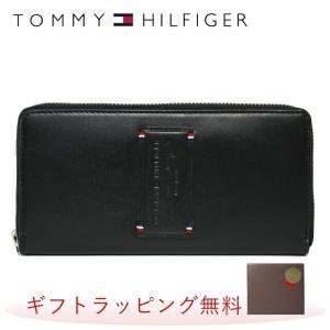 トミーヒルフィガー 長 財布 TOMMY HILFIGER 財布 31TL13X024-001 0091-5844/01 ブラック 黒 レザー メンズ トミー treasureland