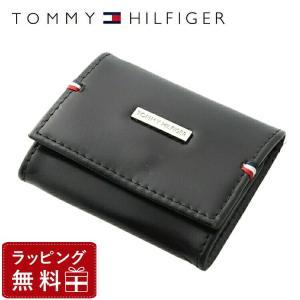 トミーヒルフィガー TOMMY HILFIGER 財布 メンズ 男性 コインケース 本革 小銭入れ ブラック 黒 財布 メンズ 男性 31TL25X025-001 0096-5321 01 treasureland