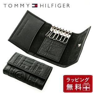 トミーヒルフィガー TOMMY HILFIGER キーケース メンズ 男性 ブラック 黒 6連 本革 31TL17X016-001 0094-5646 01|treasureland