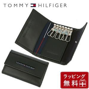 トミーヒルフィガー TOMMY HILFIGER キーケース メンズ 男性 ブラック 黒 6連 本革 31TL17X017-001 0094-5692 01|treasureland