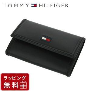トミーヒルフィガー TOMMY HILFIGER キーケース メンズ 男性 ブラック 黒 本革 31TL17X012-001 0094-5243 01|treasureland