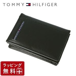 トミーヒルフィガー TOMMY HILFIGER カードケース 名刺入れ メンズ 男性 本革 31TL20X026-001 0096-5695/01|treasureland