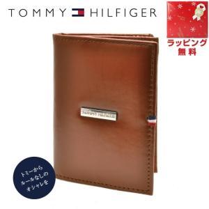 トミーヒルフィガー カードケース TOMMYHILFIGER 名刺入れ メンズ 男性 0096-5170 04 キャメル レザー 革|treasureland
