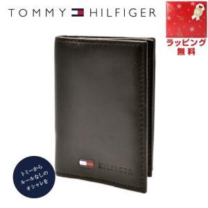 トミーヒルフィガー カードケース TOMMYHILFIGER 名刺入れ メンズ 男性 0096-5477 02 ブラウン ビターチョコレート レザー 革|treasureland