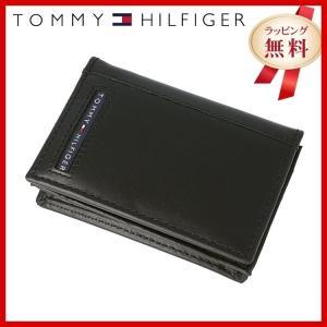 訳あり アウトレット トミーヒルフィガー カードケース 名刺入れ TOMMYHILFIGER メンズ 男性 31TL20X026-001 0096-5695/01 ブラック 革|treasureland
