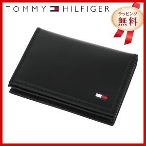 訳あり アウトレット トミーヒルフィガー TOMMY HILFIGER カードケース 名刺入れ メンズ 男性 ブラック 黒 本革 31TL20X021-001 0096-5245 01|treasureland