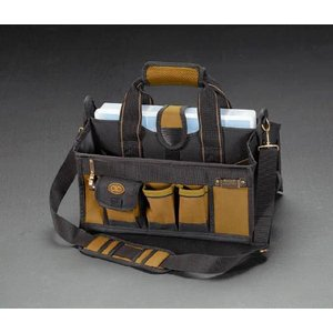 エスコ ESCO 390x270x260mm ツールバッグ(15ポケット) EA925CA-2|treasuretown