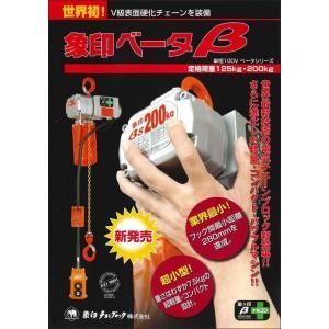 象印 β ベータ形小型電気チェーンブロック 単相100V 2点ボタン 1速形 定格荷重125kg 揚程3m BS-K1230 125kg  treasuretown