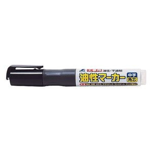 シンワ 工具用油性マーカー 中字 角芯 黒 78430
