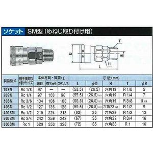 日東工器 ハイカプラ 真鍮製 20SM-BSBM|treasuretown|02