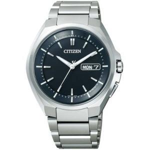 シチズン CITIZEN  ソーラー 電波 腕時計 メンズ AT6010-59E デイ&デイト ATTESA アテッサ|treasuretown