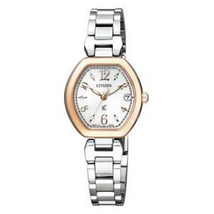 シチズン CITIZEN ソーラー 電波 腕時計 レディース  ES8055-65A TITANIAライン ハッピーフライトクロスシー xC|treasuretown
