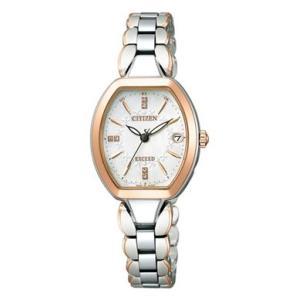 シチズン CITIZEN EXCEED エクシード 腕時計 レディース ES8064-64W エコ・ドライブ 電波時計 チタン|treasuretown
