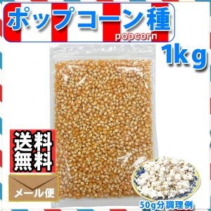 ポップコーン 豆 1kg 爆裂種 バタフライタイプ 送料無料 メール便