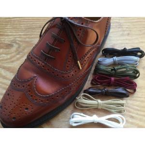 靴ひも 金属セル アクリル平紐4mm(260cm/270cm/280cm/290cm/300cm)靴紐 靴ヒモ くつ紐 シューレース|treetop-shoes