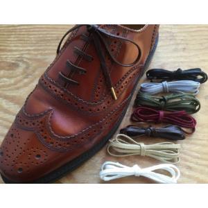 靴ひも 金属セル アクリル平紐4mm(〜50cm)靴紐 靴ヒモ くつ紐 シューレース|treetop-shoes