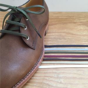 靴ひも 金属セル アクリル平紐6mm(60cm/70cm/8...